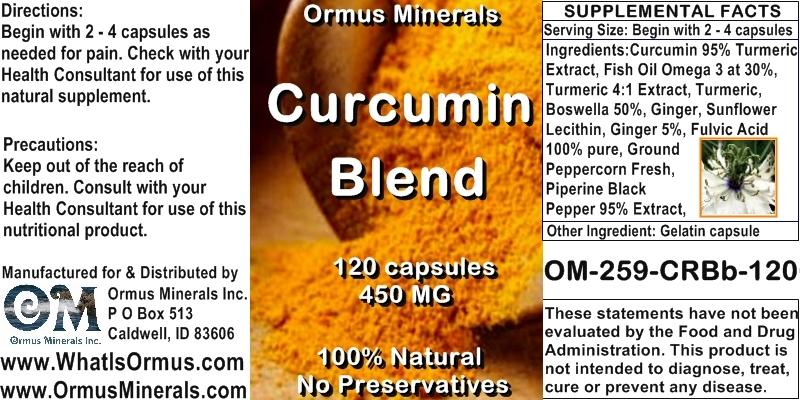 Ormus Minerals - Curcumin Blend - new